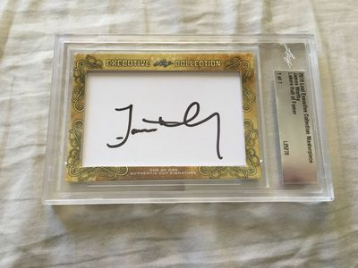 James Worthy 2018 Leaf Masterpiece Cut Signature certified autograph card 1/1 JSA