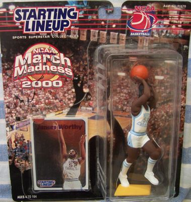 James Worthy autographed UNC Tar Heels Kenner Starting Lineup March Madness action figure
