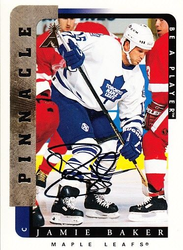 Jamie Baker Toronto Maple Leafs certified autograph 1996-97 Pinnacle Be A Player card