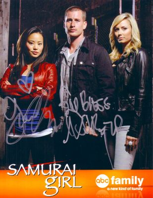 Jamie Chung and Brendan Fehr autographed Samurai Girl 2008 Comic-Con promotional photo