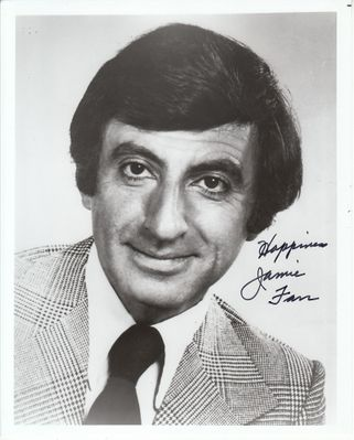 Jamie Farr autographed 8x10 black and white portrait photo inscribed Happiness (JSA)