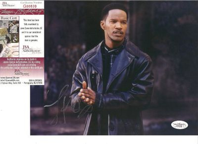 Jamie Foxx autographed 8x10 portrait photo (JSA)