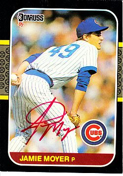 Jamie Moyer autographed Chicago Cubs 1987 Donruss Rookie Card