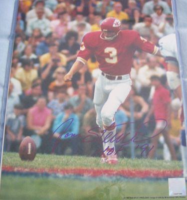 Jan Stenerud autographed Kansas City Chiefs 11x14 photo