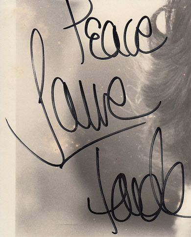 Jane Fonda autograph or cut signature