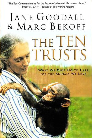 Jane Goodall autographed The Ten Trusts softcover book (JSA)