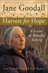 Jane Goodall autographed Harvest For Hope softcover book