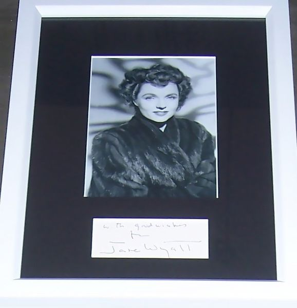 Jane Wyatt autograph matted & framed with vintage 5x7 photo