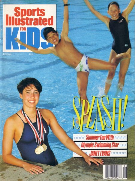 Janet Evans 1989 Sports Illustrated for Kids magazine