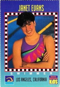 Janet Evans 1994 Sports Illustrated for Kids card