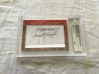 Janet Leigh and Tippi Hedren 2018 Leaf Masterpiece Cut Signature certified autograph card 1/1 JSA