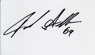 Jared Allen autographed index card