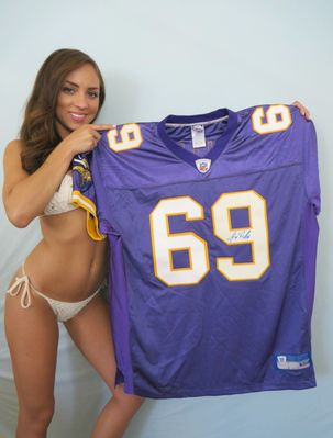 Jared Allen autographed Minnesota Vikings authentic Reebok stitched game model jersey