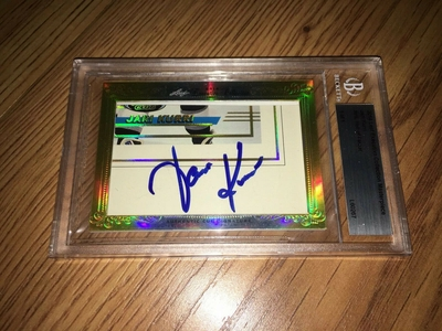 Jari Kurri 2014 Leaf Masterpiece Cut Signature certified autograph card 1/1 JSA