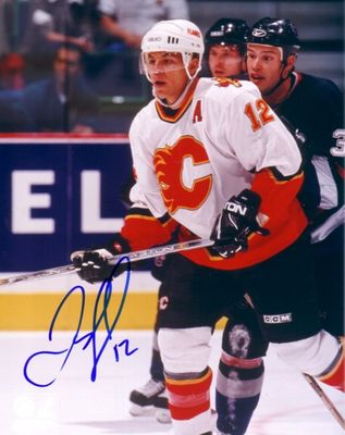 Jarome Iginla autographed Calgary Flames 8x10 photo