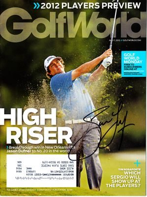 Jason Dufner autographed 2012 Golf World magazine