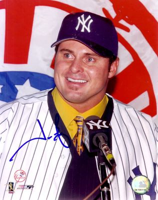 Jason Giambi autographed New York Yankees 8x10 photo