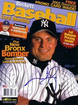 Jason Giambi autographed New York Yankees Beckett Baseball cover
