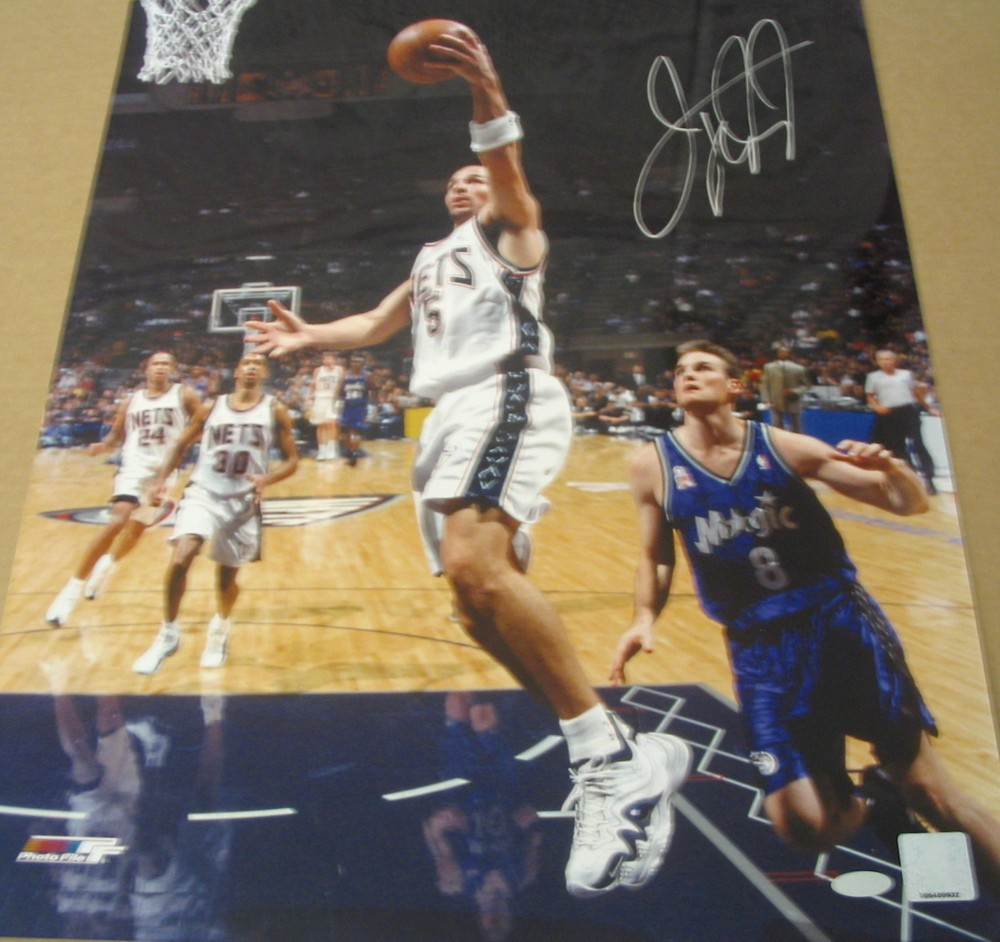 low priced 0f6e9 bb989 Jason Kidd autographed New Jersey Nets 16x20 poster size ...