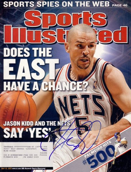 Jason Kidd autographed New Jersey Nets 2003 Sports Illustrated