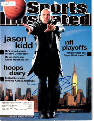 Jason Kidd autographed New Jersey Nets 2002 Sports Illustrated