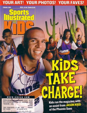 1092c0f14c9 Jason Kidd autographed Phoenix Suns Sports Illustrated for Kids magazine