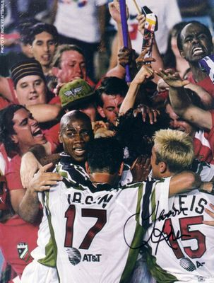 Jason Kreis autographed MLS Dallas Burn full page magazine photo