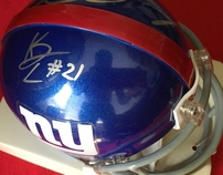 Jason Pierre-Paul & Kenny Phillips autographed New York Giants mini helmet