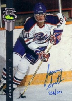 Jason Smith certified autograph 1992 Classic Regina Pats card