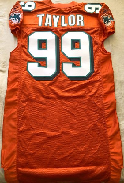 Jason Taylor Miami Dolphins 2004 authentic Reebok team issued orange game model jersey NEW
