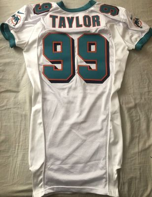 Jason Taylor Miami Dolphins 2000 authentic Nike team issued game model white jersey NEW