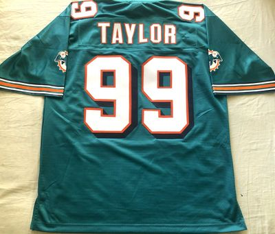 Jason Taylor Miami Dolphins 1997 through 2001 style authentic NFL Pro Line stitched aqua jersey NEW