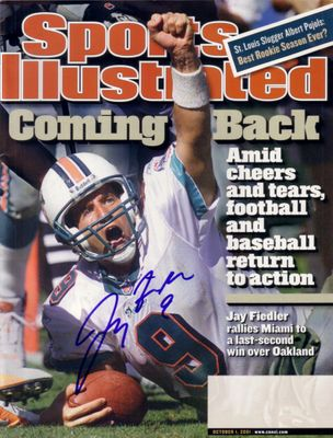 Jay Fiedler autographed Miami Dolphins 2001 Sports Illustrated