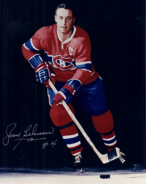 Jean Beliveau autographed Montreal Canadiens 8x10 photo