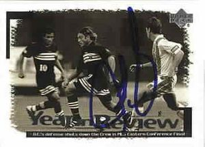 Jeff Agoos autographed 1999 Upper Deck MLS DC United card