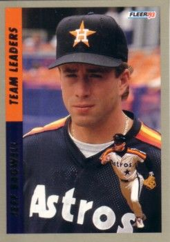 Jeff Bagwell 1993 Fleer Team Leaders insert card #9