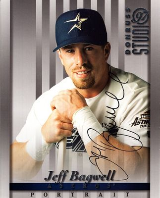 Jeff Bagwell autographed Houston Astros 1997 Studio 8x10 photo card