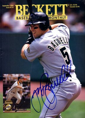 Jeff Bagwell autographed Houston Astros Beckett Baseball magazine cover