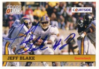 Jeff Blake East Carolina certified autograph 1992 Courtside card
