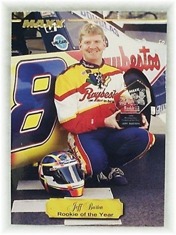 Jeff Burton 1995 Maxx racing promo card