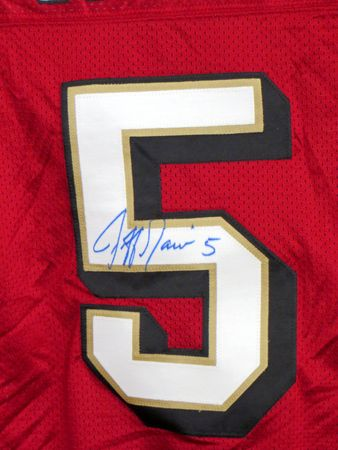 Jeff Garcia autographed San Francisco 49ers 2002 or 2003 authentic Reebok game model jersey