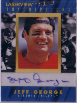 Jeff George certified autograph Atlanta Falcons 1996 Pinnacle Inscriptions card