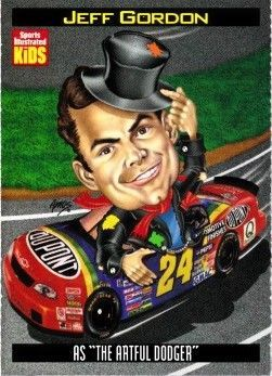 Jeff Gordon 1998 Sports Illustrated for Kids card