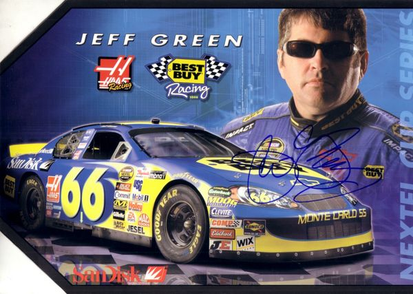 Jeff Green autographed 8x12 Best Buy Racing NASCAR promo photo