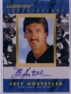 Jeff Hostetler certified autograph Oakland Raiders 1996 Pinnacle Inscriptions card