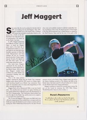 Jeff Maggert autographed golf magazine photo