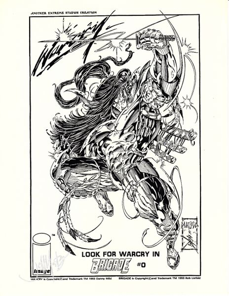 Jeff Matsuda autographed Warcry Brigade comic book art print
