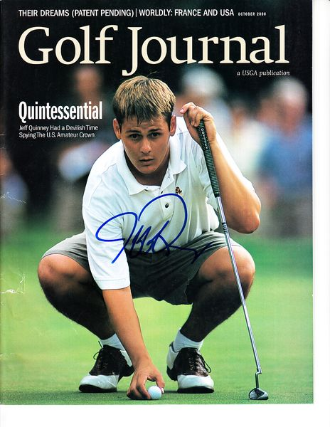 Jeff Quinney autographed 2000 Golf Journal magazine