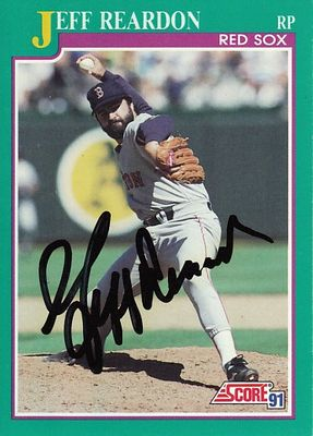 Jeff Reardon autographed Boston Red Sox 1991 Score card