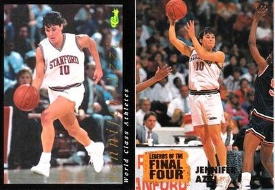 Jennifer Azzi Stanford Cardinal 1992 Classic and 1996 Classic Legends of the Final Four cards